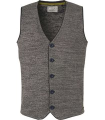no excess pullover, gilet, 3 col jacquard, bt navy