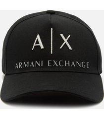 armani exchange men's corp logo cap - grey