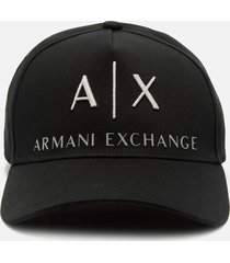 armani exchange men's corporate ax logo cap - black