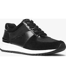 mk sneaker allie in pelle e tela - nero (nero) - michael kors