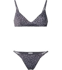 sian swimwear short de natação com animal print - cinza