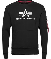 3d logo sweater sweat-shirt tröja svart alpha industries
