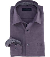 casa moda overhemd comfort fit paars dessin