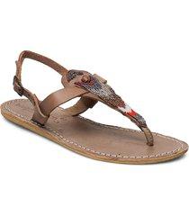 lucas flat shoes summer shoes flip flops brun laidback london