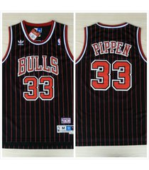 chicago bulls #33 scottie pippen pin-stripe hardwood classic swingman jersey