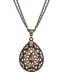 2028 black-tone colorado teardrop necklace