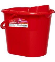 balde condor com escorredor sem vassoura vermelho 12l