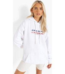 frankrijk euro hoodie, white
