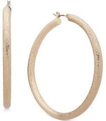 """dkny large textured hoop earrings, 2.25"""""""