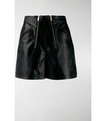 stella mccartney faux-leather shorts
