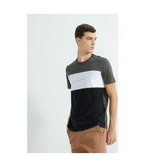 camiseta manga curta com recortes | request | cinza | gg