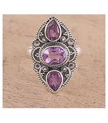 amethyst cocktail ring, 'beautiful lavender' (india)