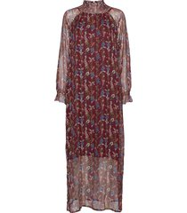 terri flower maxi dress galajurk rood line of oslo