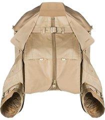 junya watanabe comme des garçons pre-owned multi-strap cropped jacket