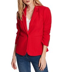 women's court & rowe stretch waffle knit blazer, size 8 - red