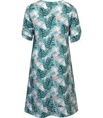 jurk van 100% linnen van emilia lay multicolour
