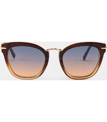 cayleen ombre cat eye sunglasses - brown
