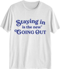love tribe women's staying in is the new going out t-shirt
