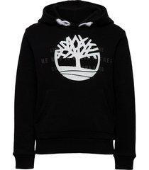 hooded sweatshirt hoodie trui zwart timberland