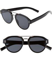 men's dior fraction5 50mm sunglasses - black / gray ar