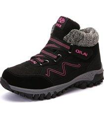 plataforma zapatillas de mujer zapatos de invierno de felpa piel caliente