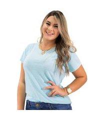 t-shirt feminina botonê básica manga curta anticorpus