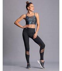 deportivos leggings leonisa 195509 negro