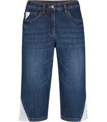 bermuda di jeans elasticizzati con pizzo e cinta comoda (nero) - bpc bonprix collection