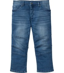 jeans elasticizzato 3/4 regular fit (blu) - rainbow