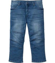 jeans elasticizzato 3/4 regular fit (blu) - rainbow