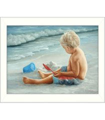 """trendy decor 4u in the sand by georgia janisse, printed wall art, ready to hang, white frame, 14"""" x 18"""""""