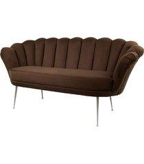 sofa brązowa dwuosobowa tapicerowany lux-4