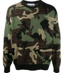 moschino camouflage-print sweatshirt - green