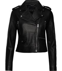 classic leather moto jacket läderjacka skinnjacka svart banana republic