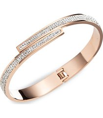 luxe valerie titanium & crystal cuff bracelet