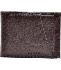 carteira masculina couro porta moedas porta cartões moderna