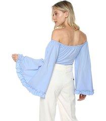 blusa body azul glamorous