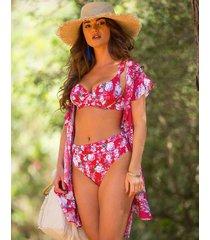 santa monica floral underwire bikini top
