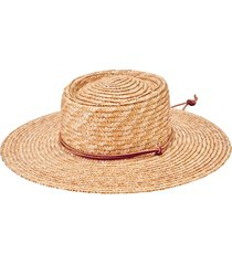 women's san diego hat straw hat with leather cord - beige