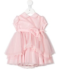 aletta tulle detail party dress - pink