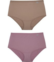 kit de 2 calcinhas senhora cintura alta 50872 delrio