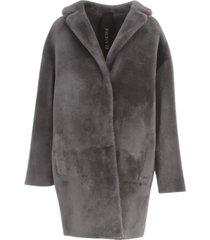 blancha merino straight coat w/high central slit
