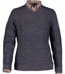 state of art trui donkerblauw met v-neck
