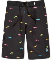 maui and sons men's straight shark board shorts
