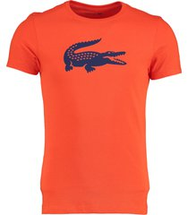 lacoste t-shirt oranje regular fit th3377/xrn
