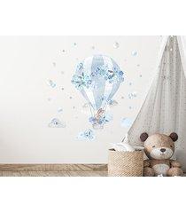 balon niebieski - naklejka na ścianę
