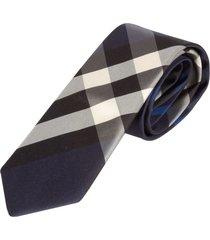 burberry check print neck tie