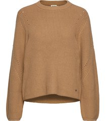 abby sweater stickad tröja brun twist & tango