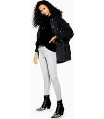 pale gray jamie skinny jeans - grey
