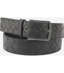 bottega veneta belt with maxi woven leather motif